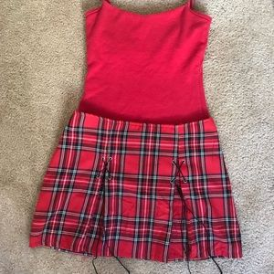 Charlotte Russe Red Plaid Skirt